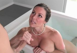 Awesome naked wifey entices stepson..
