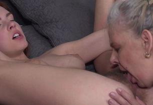 Taboo g/g fuck-fest with wooly female..