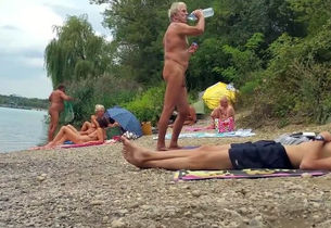 Naturist granddad at the beach - 3