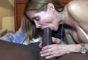 milky wifey gets a Big black cock..