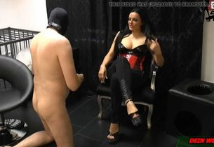 Sub must do  for german mistress she..