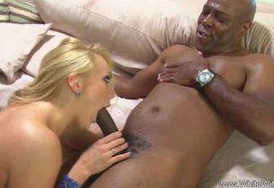 Ash-blonde Wife Fellates Tears up Huge..