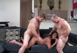 Alexis Rain in three way concoction