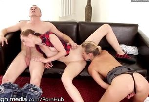 Ffm ass-smothering three way for..