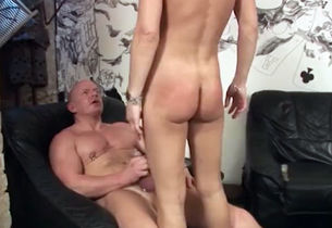 Thin German Ginger-haired Milg Gang-bang
