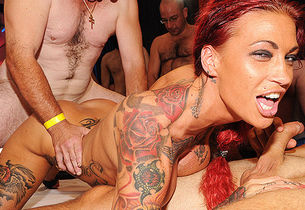 harsh ravage soiree with tatted mummy