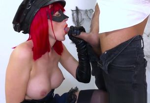 Police gal guzzles cum! Officer makes..