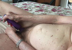 Horney wifey ejaculation with njoy and..