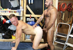 Mature homos having joy at work