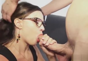Dark-haired mature hard-core and..