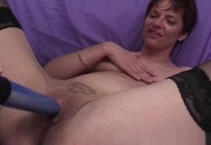 MomsWithBoys Mature Model Takes On 3..