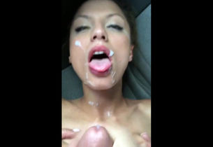 Cool cougar facial jizz shot cumshot,..