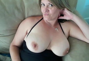 Mummy frolicking with her baps