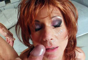 Mummy Thing Ginger-haired cougar gets..