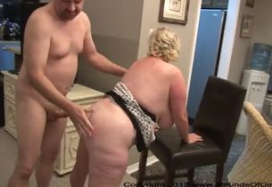 Buttfuck plus-size ash-blonde